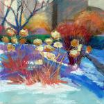 "<font size=7 color=""#ff0000"">&#9679;</font>SOLD </br>Hibernating Hydrangeas  </br>3/1/15, New York, NY </br>pastel </br>posted 3/2/15 3:30pm"