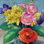 Bouquet for a Wintry Day  </br>3/5/15, New York, NY </br>pastel </br>posted 3/6/15 2:50pm